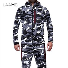 Laamei Military Zipper Hoody Men Jackets Fashion Camouflage Printed Hoodies Tracksuit Jacket Clothes Spring Autumn Slim Fit Coat(China)