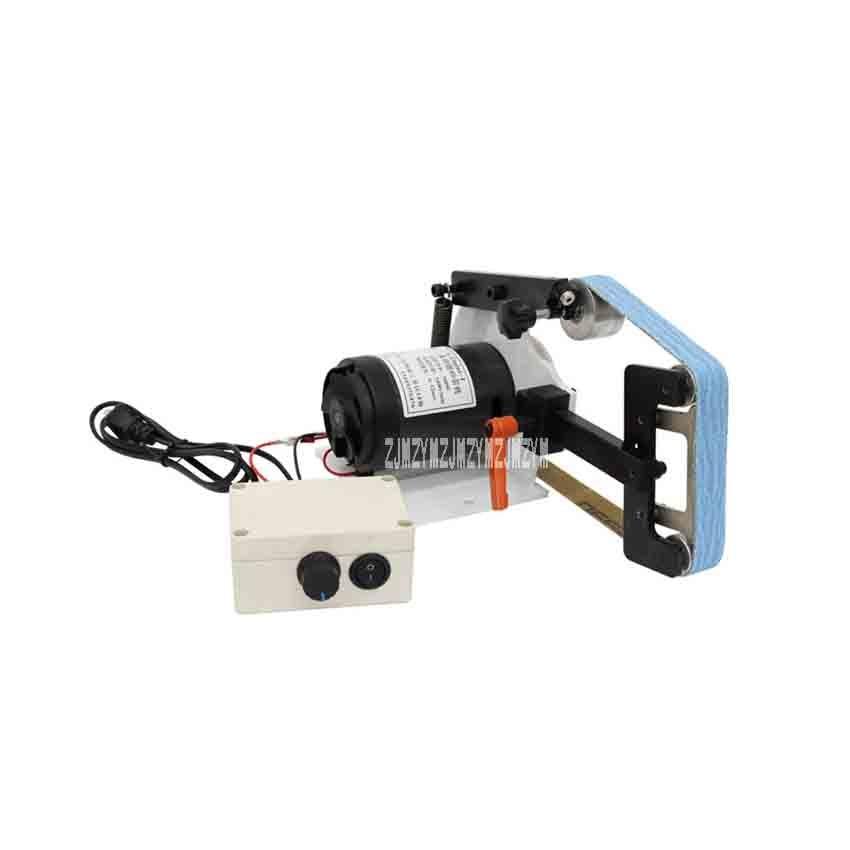 Portable Mini Belt Sander Electric Polisher Grinding Machine Small Desktop Belt Polishing Machine DIY Tools 220V 700W (660*25mm) 25 762mm electronic belt sander polishing machine