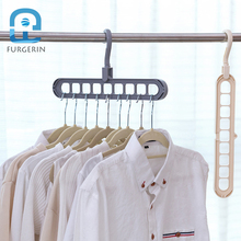 FURGERIN Multi-port Door Clothes Rack Hanger Clothing baby hangers for clothes drying rack scarf hanger Storage Racks Plastic