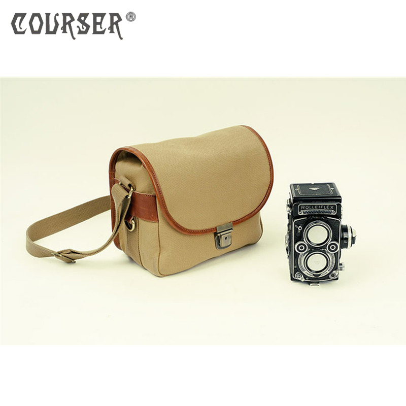COURSERR Canvas Shoulder Bag Case Waterproof Camera Photo Shoulder Bag with Paitition Padded Handbags for Outdoor Travel dollice dr 655 canvas camera bag black as domke f7