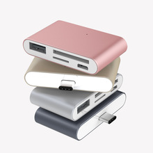 Get more info on the OTG USB3.1 Type-C Card Reader USB-C to USB2.0 SD TF Micro USB Multifunction Converter for Phone Computer Date Transfer Use