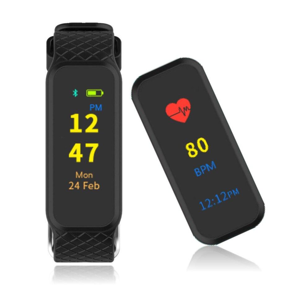 <font><b>Bluetooth</b></font> умный браслет динамического сердечного ритма <font><b>smart</b></font> watch монитор цветной tft-lcd экран смарт браслет для ios android phone
