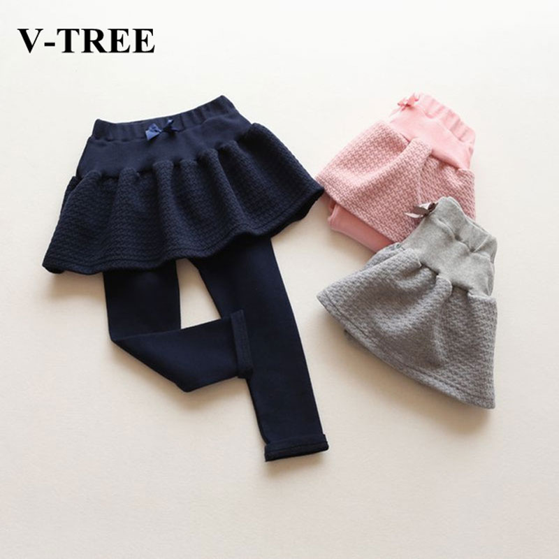 V-TREE NEW fashion autumn spring baby girl tutu skirt bow skirts for girls cotton 3 color child petticoat girls tutus
