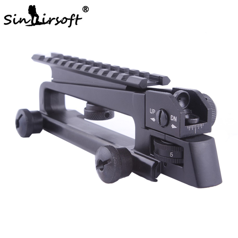 Universal Adjustable Rail Flattop QD Quick Release Carry Handle With Rear Sight