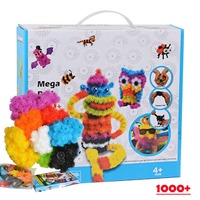 1000pc Kid Educational Assembling 3D Puzzle Toys DIY Puff Ball Squeezed Variety Shape Creative Handmade Toy