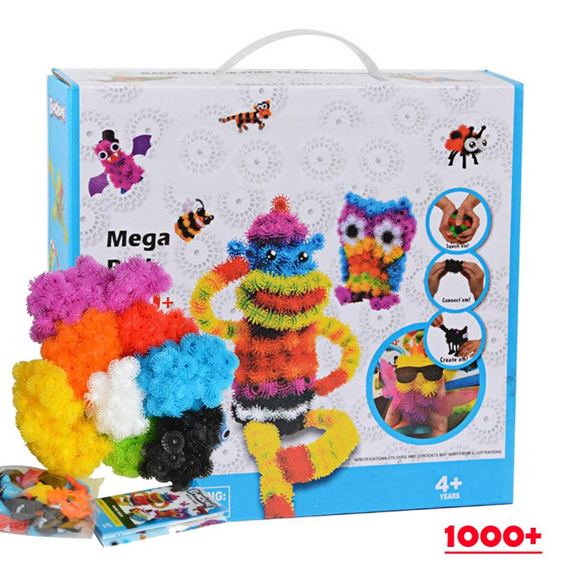 1000pcs Kid Educational Assembling 3D Puzzle Toys DIY Puff Ball Squeezed Variety Shape Creative Handmade Puzzles For Children