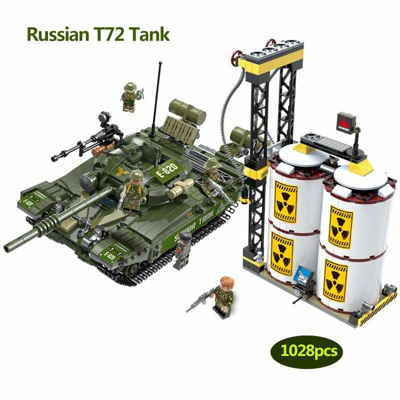 1028pcs Military series Russia T-72 Main Battle Tank army soldier Action Figures Building Blocks Toy for Children gifts