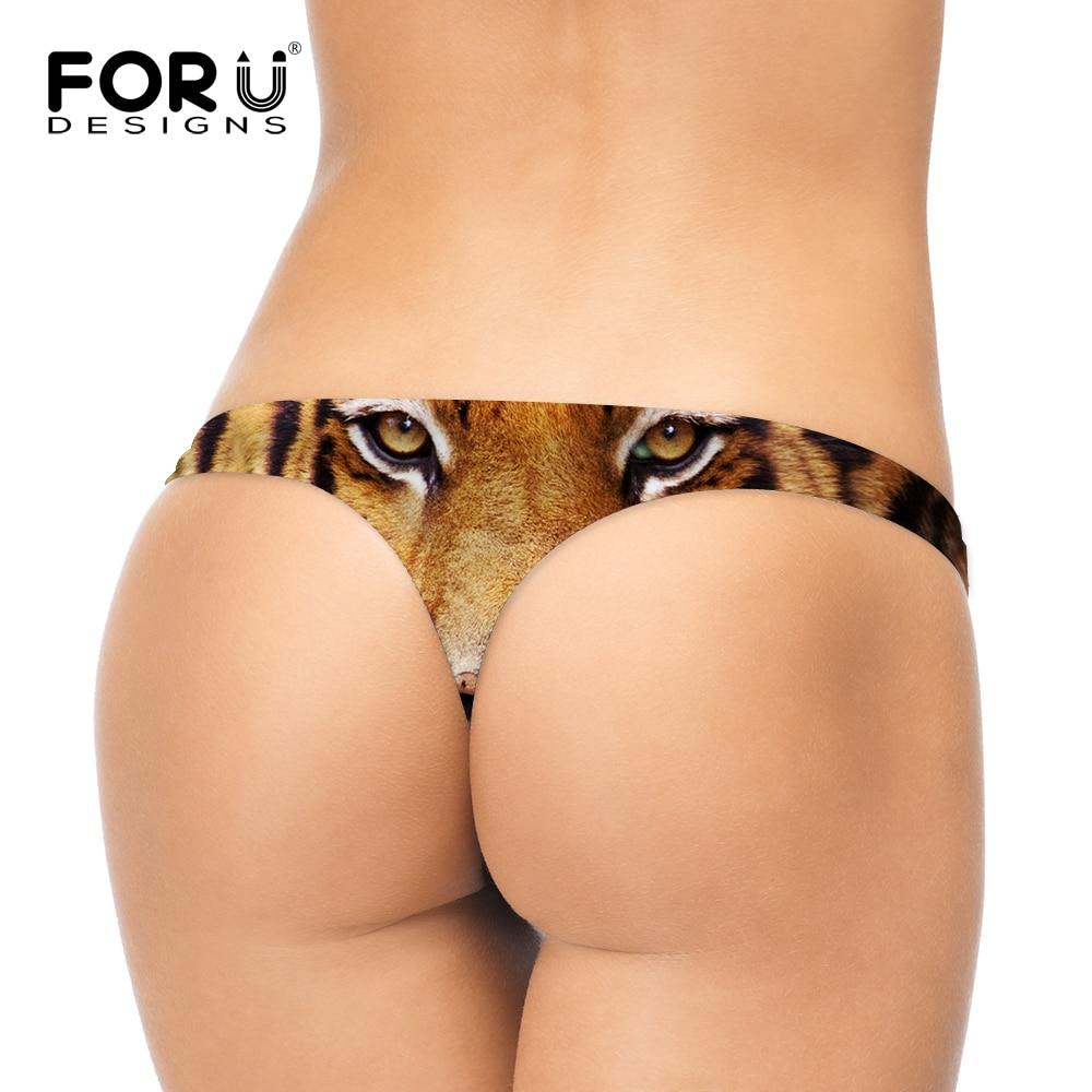 440f8254ba46 FORUDESIGNS Wild Yellow White Tiger Thong Panties Stylish Printing Bikini  Women Sexy G Stripes Eyes Animals Brief for Girls on Aliexpress.com    Alibaba ...