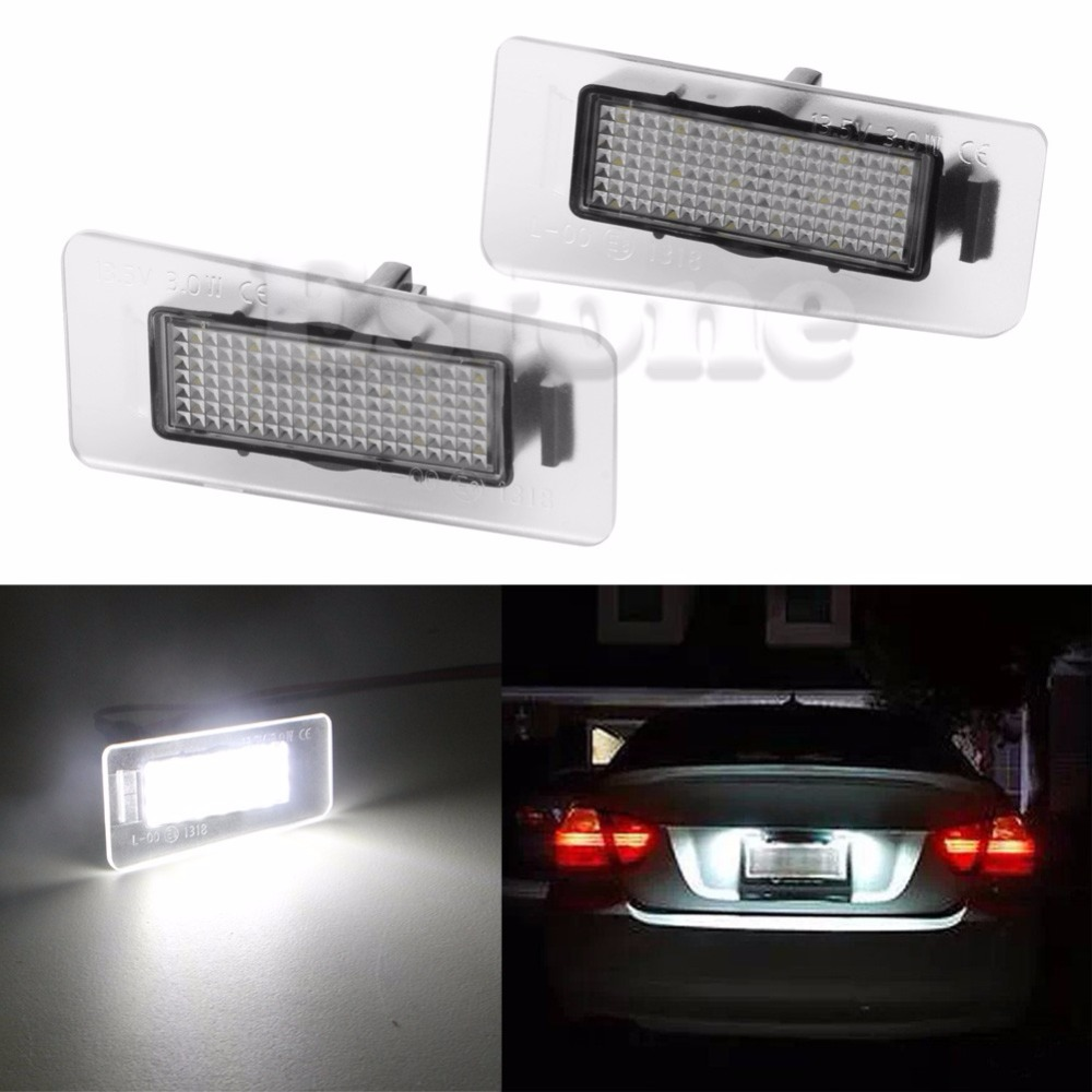 1Pair Car 18-LED Number License Plate Light Lamp For Hyundai i30 CW For Estate For Elentra Auto Lamp liandlee for alfa romeo 156 159 166 147 led car license plate light number frame lamp high quality led lights