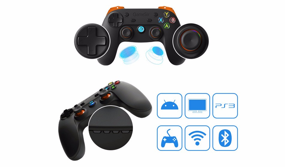 GameSir G3s Gamepad for PS3 Controller Bluetooth&2.4GHz snes nes N64 Joystick PC for Samsung Gear VR Box for SONY Playstation 2 13