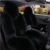 Natural fur sheepskin car seat covers 1pc for fornt seat universal size for auto cover car fur capes on the seat automobiles