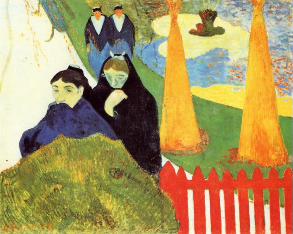 High quality Oil painting Canvas Reproductions Old Women of Arles (1888) by Paul Gauguin hand paintedHigh quality Oil painting Canvas Reproductions Old Women of Arles (1888) by Paul Gauguin hand painted