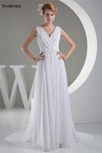 Wholesale Wedding Dress  Chiffon V neck Sash Beading Floor length Custom made Plus size WD64255