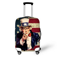 Hand drawn comics Print luggage protector cover suitcases covers luggage covers accessory bags travel trolley case cover