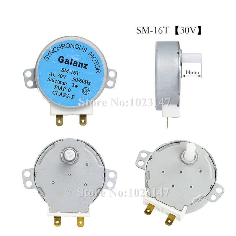 1 piece SM-16T Microwave Turntable Turn Table Motor Synchronous Motor SM-16T approx 14mm Spindle tall ...