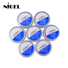 Ni80 Prebuilt Coil Qued Hive Alien Fused Clapton Mix Tiger Flat Nichrome Premade Vape Coil for Resistance Vape DIY Heating Wire original 8 in 1 prebuilt coil clapton alien hive quad flat twisted fused heating wire for vape diy premade coil fireluke mesh