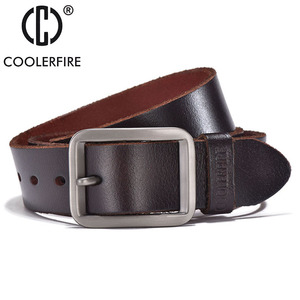 Image 3 - Luxury belt mens belts pronged buckle mans genuine leather strap for jean high quality wide brown color fashion JTC012