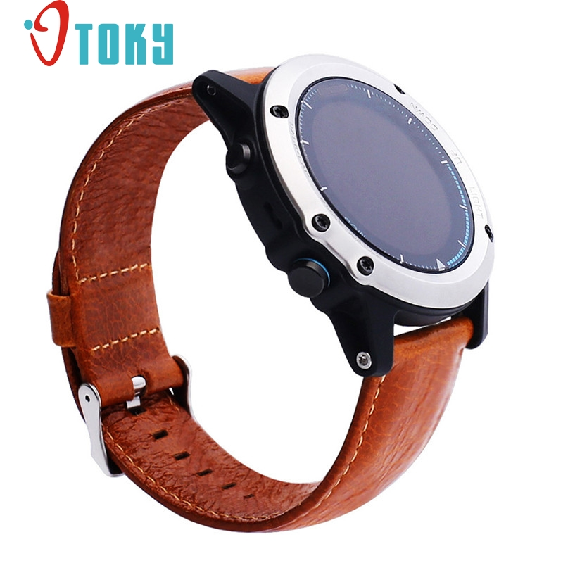 Hot Sale OTOKY Replacement Soft Leather Watch Band Strap + Tool For Garmin Fenix 3 / HR Sporting Goods accessories Dec21 10 colors soft silicone wristband strap replacement wrist watch band strap with tools for garmin fenix 3 hr watchbands straps