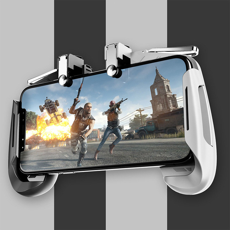 Image 2 - AK16 Metal Smart Phone Mobile Gaming Trigger For PUBG Controller Gamepad  L1R1 Button Aim Shooter Joystick Game Pad-in Gamepads from Consumer Electronics