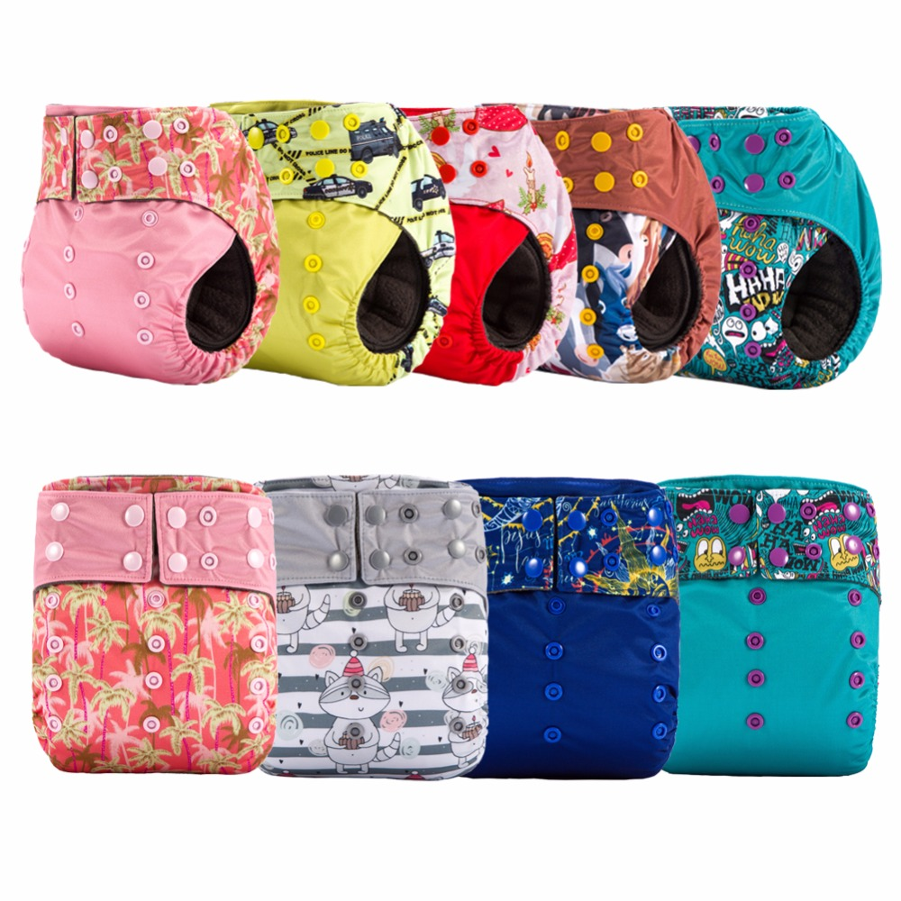 JinoBaby Charcoal Bamboo Diaper AIO Cloth Diapers Reusable (Pack of 2 Pieces)