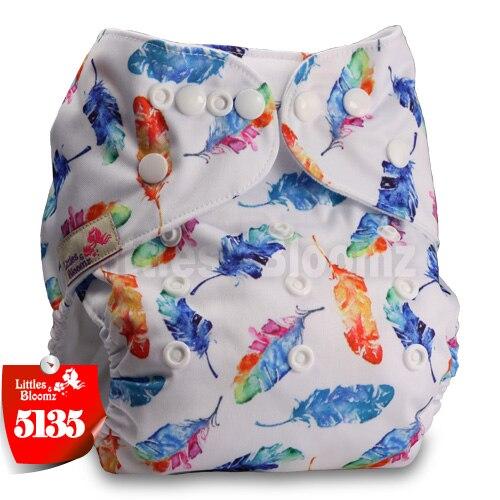 Littles& Bloomz детские моющиеся многоразовые подгузники из настоящей ткани с карманом для подгузников, чехлы для подгузников, костюмы для новорожденных и горшков, один размер, вставки для подгузников - Цвет: 5135