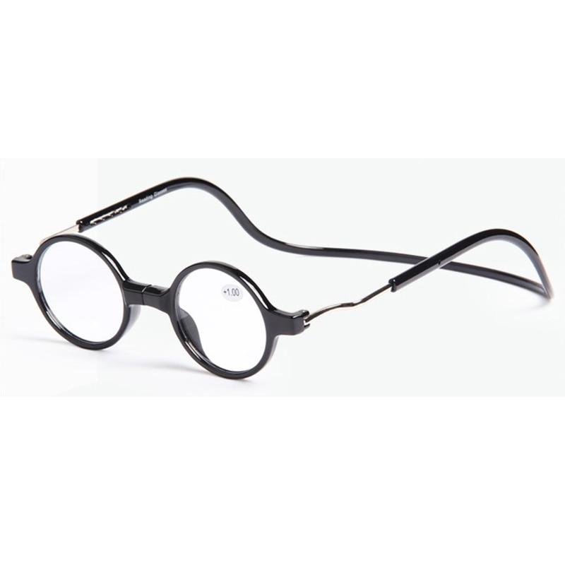 05be6ac333 Unisex imán gafas de lectura de las mujeres de los hombres colorido ajustable  cuello colgante magnético frente miopía gafas redondas Collant Femme