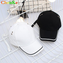 ChenKe 2018 New Black and White Lines Embroidery Baseball Cap for Men Women  Bone Spring Summer Caps Cotton Snapback Cotton Hats 991f5101f778
