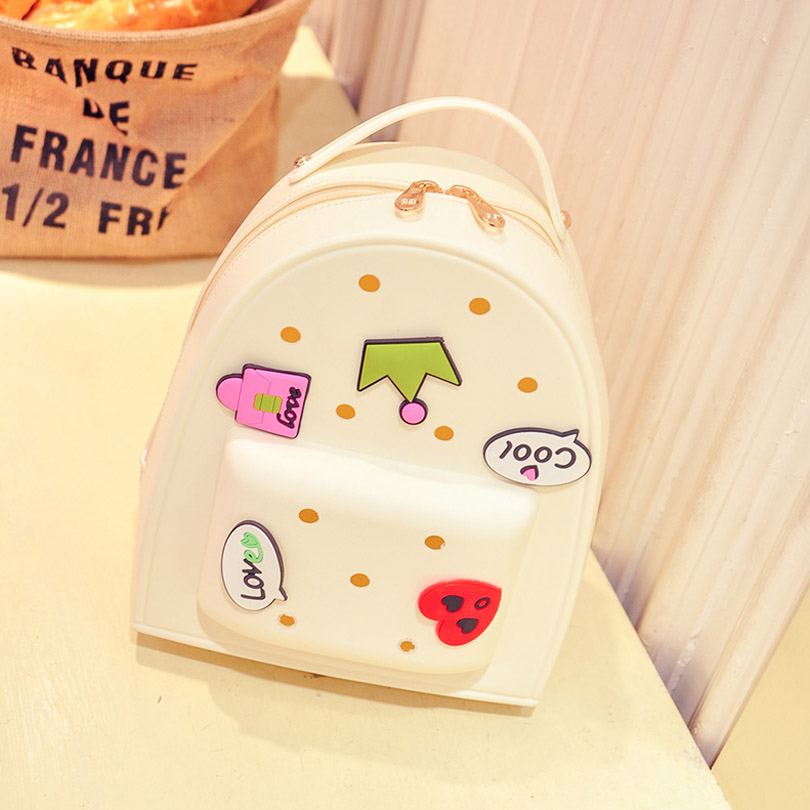 Women Silica Gel Candy Color Small Backpacks School Shoulder Bag For Teenagers Ladies Big Girl Book Bagpack Mochila Rucksack 2017 new women leather backpacks students school bags for girls teenagers travel rucksack mochila candy color small shoulder bag