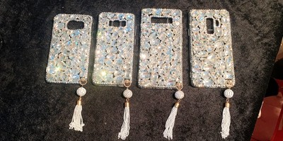 ⓪Mirror soft cover Flower Rhinestone case For Huawei Honor