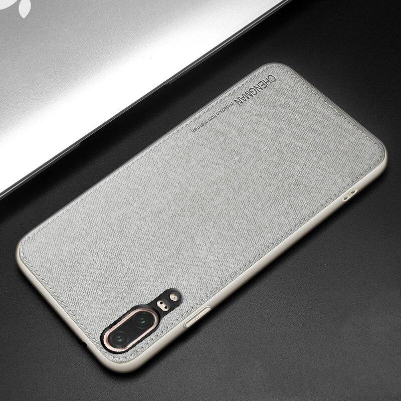 Высокое качество роскошные ткани мягкий кожаный чехол для Huawei p20 Силиконовый противоударный чехол телефона для Huawei p20 Lite Nova3e чехол Чехол