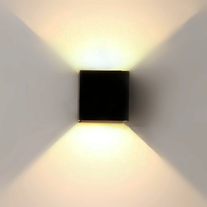 12W Dimmable COB IP65 cube adjustable surface mounted outdoor LED lightig,LED outdoor wall light, up down LED wall lamp