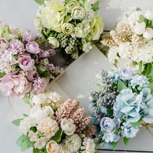 1 Bunch Artificial Flower Nordic Simulation Rose Bouquet Living Room Decoration Table Hand Wedding