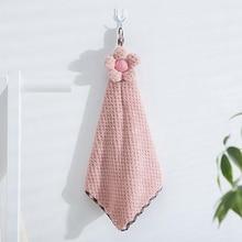 Hot Sale Absorbent Female Thick Towels Non cotton Boutique Cute Sun Flower Pineapple Gauze Towel Hanging