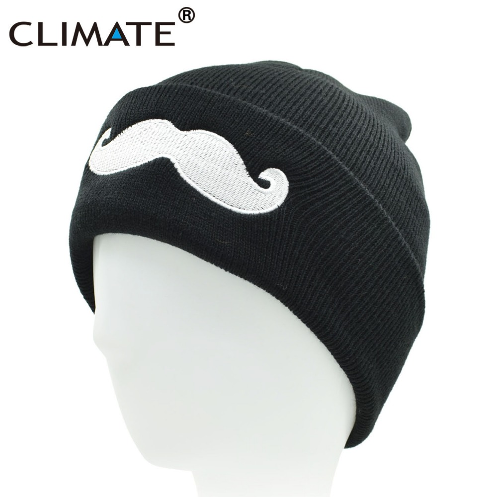 735a2d03f05 CLIMATE Men Women Mustache Winter Warm Beanie Hat Cute Warm Soft Knitted  Acrylic Beanies Cap Hip Hop Hat For Adult Teenagers Boy