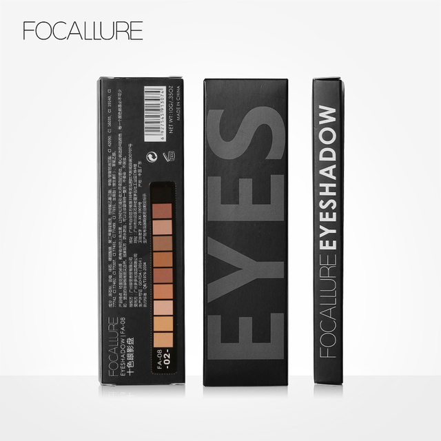 FOCALLURE New Pro 10 Colors Set Women Waterproof Makeup Eyeshadow Palette Eyebrow Eye Shadow Powder Cosmetic with Brush 4