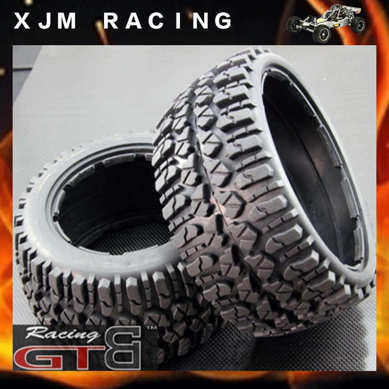 GTBRacing  All Terrain Front tire (x 2pcs/set 170*60) for 1/5 rc car hpi rovan baja 5b/ss main pump combination for gtb 4 wheel hydraulic brake set fit for 1 5 rc car hpi baja 5b ss
