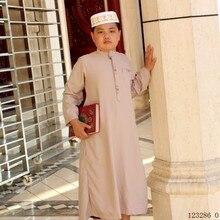 สวดมนต์เสื้อผ้าเด็ก Jubba Thobe เสื้อผ้าอิสลามอาหรับชายหนุ่ม Kaftan Saudi Arab ดูไบเด็กอิสลามเสื้อผ้ามุสลิมเด็ก