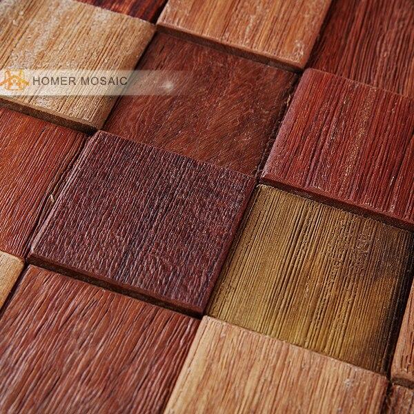 Holz Wandfliesen versand kostenlos naturholz mosaik fliesen rustikalen holz