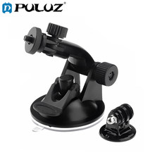 Suction Cup mount for Gopro Hero 7 6 5 4 3+ 3 SJCAM SJ4000 Xiaomi Yi 4K Lite EKEN H9 + Tripod Adapter Go Pro Camera Accessories(China)