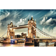 5D DIY Diamond Painting Full Square Drill Tower Bridge 3D Embroidery Cross Stitch Mosaic Home Y1333 5d diy diamond painting full square drill indian women 3d embroidery cross stitch mosaic home y2240