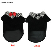 Fashion Small Pet Dog Clothes Western Style Men's Suit Bow Tie Bowknot Puppy Costume Clothing For Dogs #CNO24
