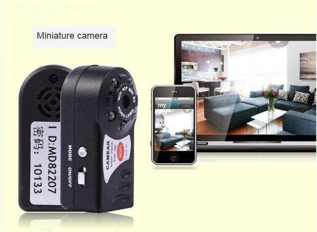 WiFi Camera Mini DV Q7 480P DVR Wireless IP Camera Brand New Hidden Camcorder Video Recorder Camera Infrared Night Vision