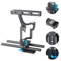 YELANGU Handheld DSLR Camera Cage Stabilizer Kit Film Maker Video Equipment Accessories with Top Handle Grip for GH4 A7S A7 A7R