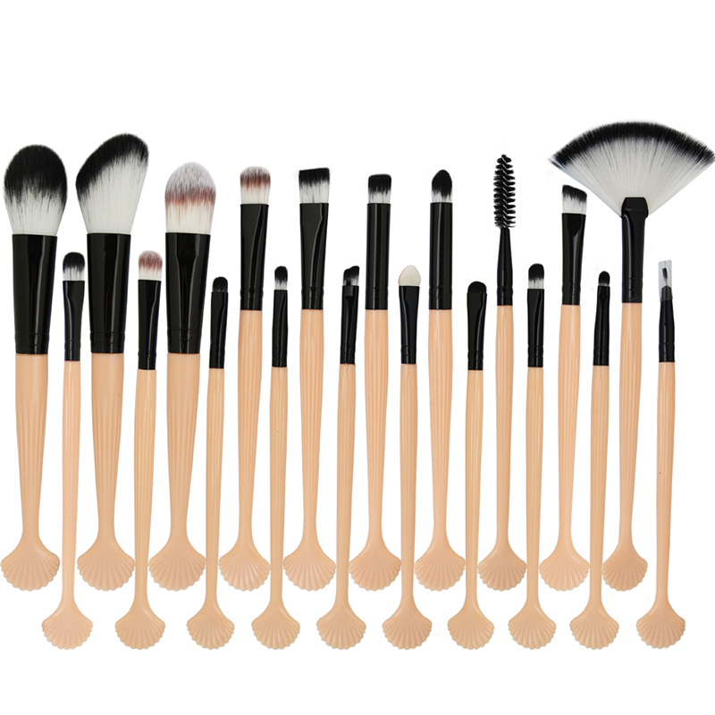 Foundation Powder Brush Shell Makeup Brushes Set 20Pcs/Set Eye Shadow Concealer Makeup Brush Tool Beauty professional 10pcs set orange color makeup stick makeup brush set foundation fan brush eye shadow brush beauty tools