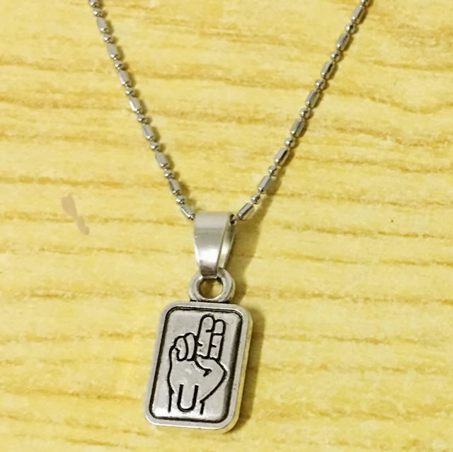 I Love You Hand Sign Language Necklace For Deaf Mute Awareness Gift