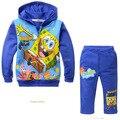 Горячая Осень Мальчик комплект одежды детей детские мультики спортивный костюм малышей детские Спорт набор Куртка С Капюшоном + брюки 2 шт. розничная