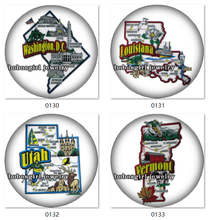 SN1004 USA US states Michigan Texas Tennessee California Oklahoma Alaska Kentucky Ohio map snap button for Snap Jewelry(China)