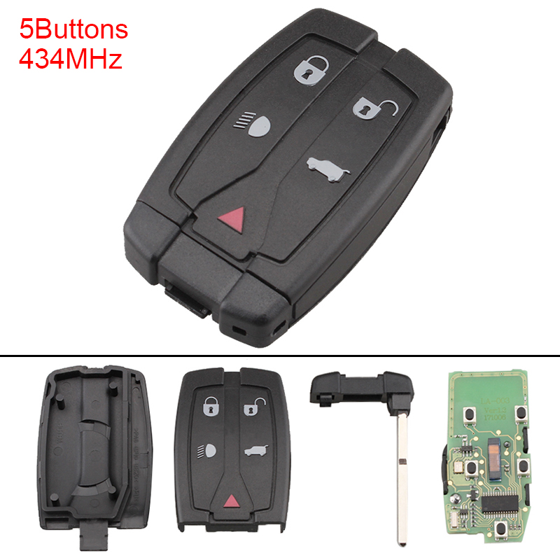 433MHz 4 Buttons Portable Keyless Uncut Flip Remote Key Fob PFC7953 Chip for Land Rover Freelander 2006 2012 in Car Key from Automobiles Motorcycles