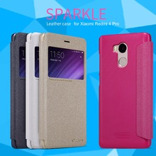 for Xiaomi Redmi 4 Pro NILLKIN Sparkle Luxury Flip Leather with Smart View Window Back Cover Phone Case for Redmi 4 Pro Funda