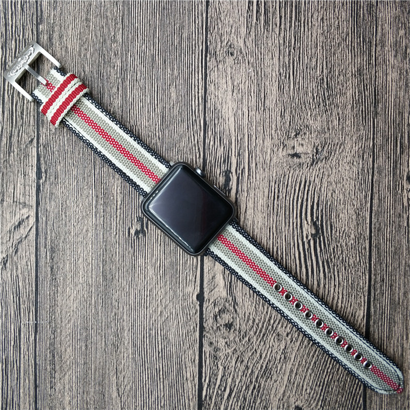 For Apple Series iWatch Strap Nylon Watch Band With Personal Buckle For Apple Watch Series 1 2 3 Watch Strap Wrist Watchbands luxury ladies watch strap for apple watch series 1 2 3 wrist band hand made by crystal bracelet for apple watch series iwatch